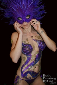 Beijing Club HK Glitter body tattoo; bodypaintingbycat.co.uk; on Symone of poleparadisestudio.com front masked wm-1
