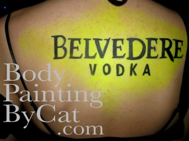 Belvedere promo UV back yellow bpc