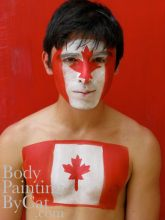 Canada flag bodypaint bpc sml