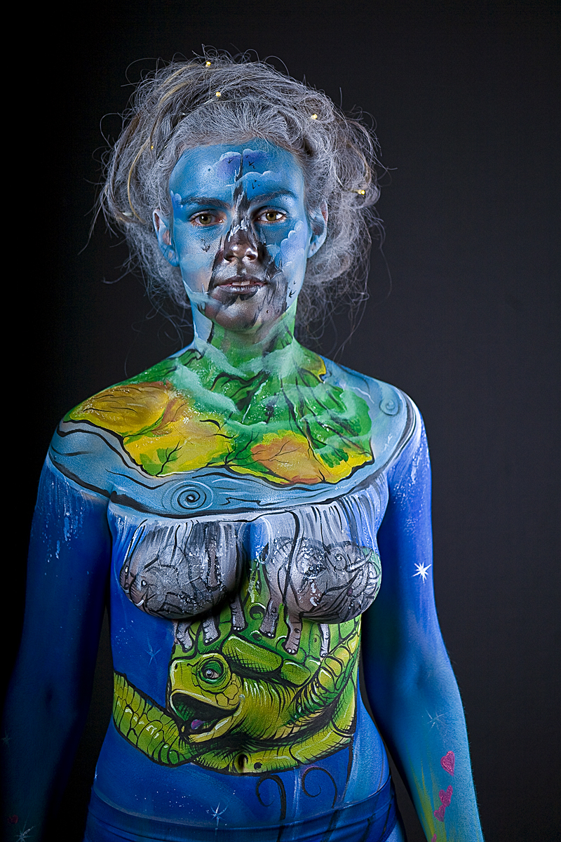 Discworld Welsh Fest Wasit Up Mg 3709 Body Painting By Cat