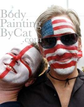 Flag face paints bpc