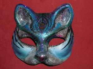 Glitter tatt cat mask for chris wedding