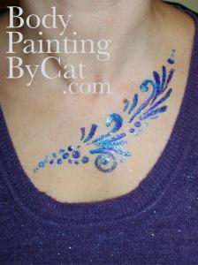 Heathery neck glitter t bpc