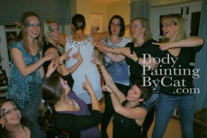 Hen party glitter tatt group L point bpc