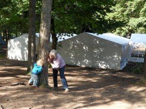 Mon 23rd Aug welsh fest comp tents peekaboo