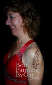 Red dress glitter tatt bpc