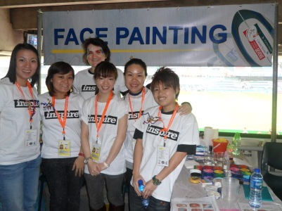 1 of the Rugby 7s face paint teams