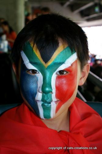 Sth Africa flag face