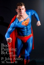 SuperMan Body Paint, M: Simon, P: Ability