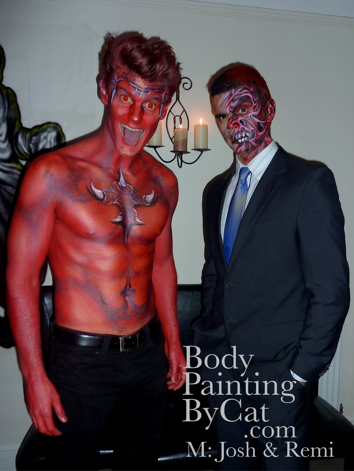 Halloween Body Painting By Cat