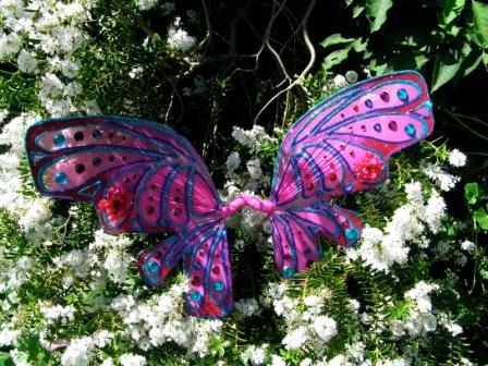 Handmade glittery fairy wings by Cat
