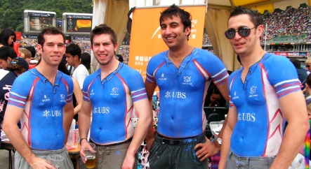Quick shirts painted at HK Rugby 7s
