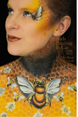 Bee neck bodypaint on Mel by Cat pics DR Cook look up bpc