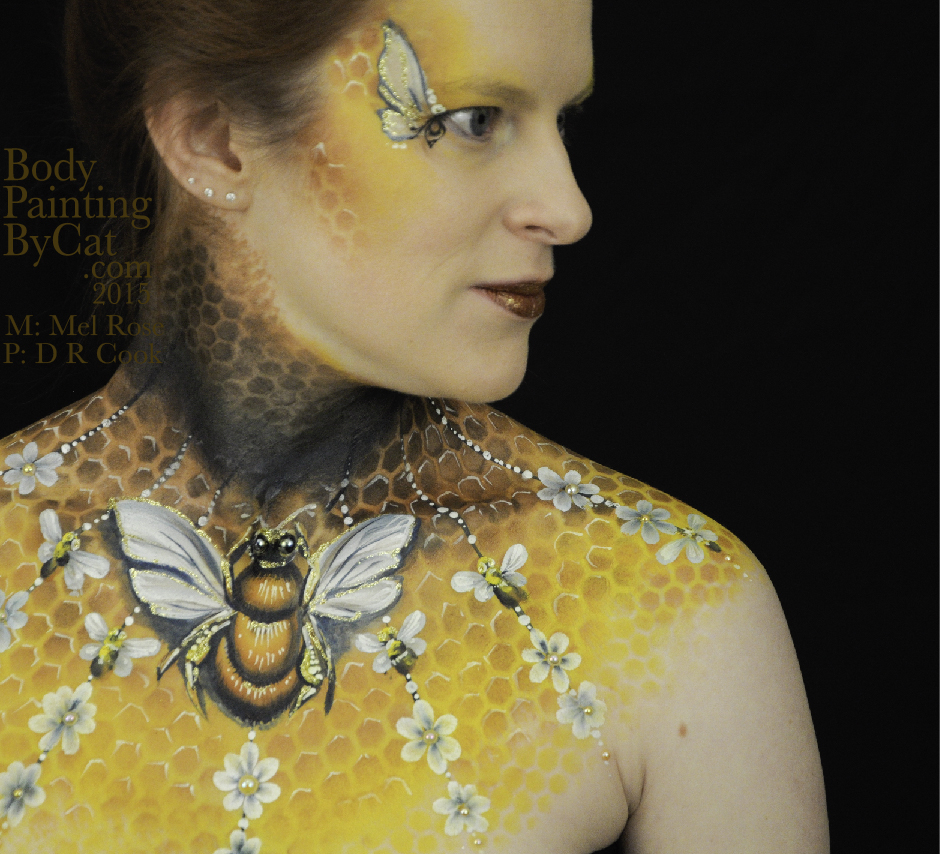 Flowers Amp Butterflies Body Painting By Cat