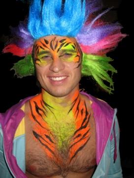 Bens UV party tiger chest uvd