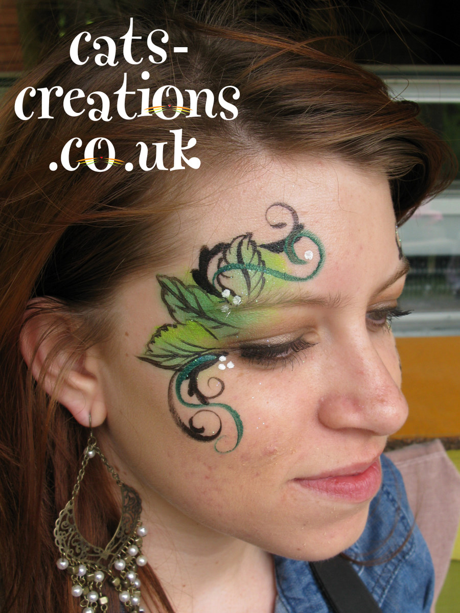 Uk Face Amp Body Painting Convention Glitter Tattoo Demo