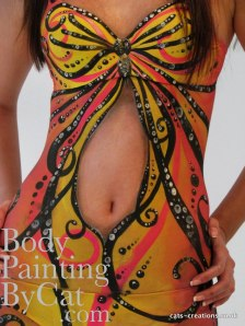 Butterfly Dress tummy-1 bpc