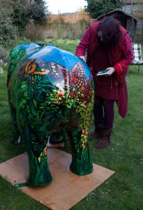 Elephant Wild Art Statue Jungle Paint Body Painting By Cat