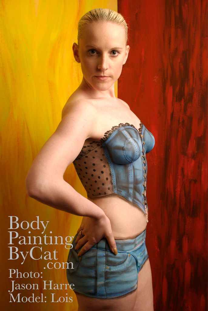 Denim Bodypaint Glare Bpc Body Painting By Cat