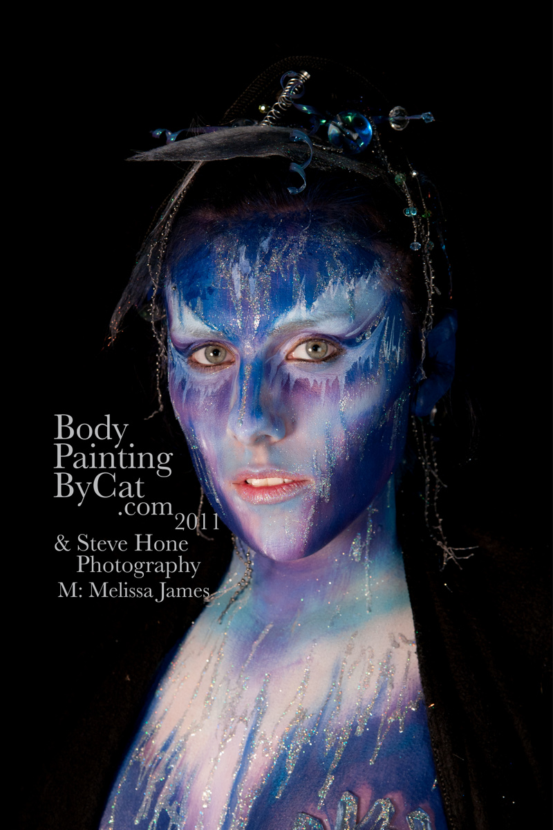 Winter Fae Series Body Painting By Cat