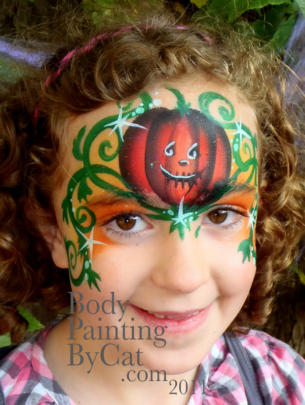 Halloween face paint – Body Painting by Cat