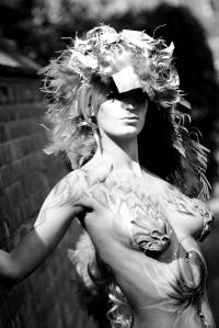Isnap Photography Pheonix bodypaint bwhite