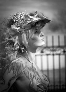 Isnap Photography Pheonix bodypaint bw