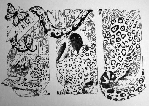 Jaguar Art BW