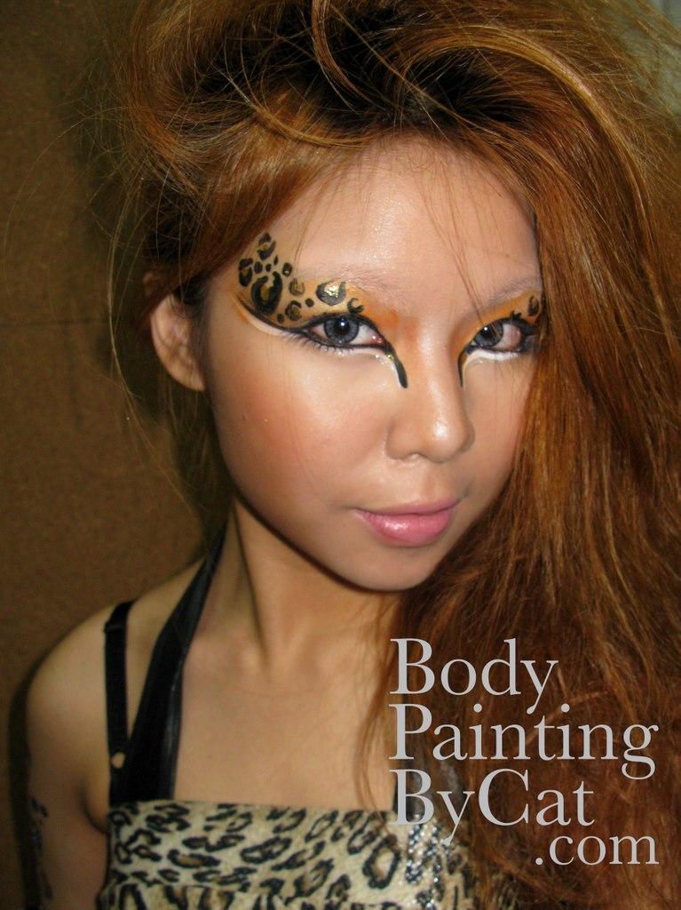 Halloween Eye Face Paint Mbar Leopar Eye Face Paint Bpc