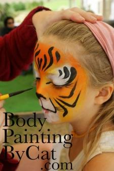 NZ wedding tiger girl painted bpc-1