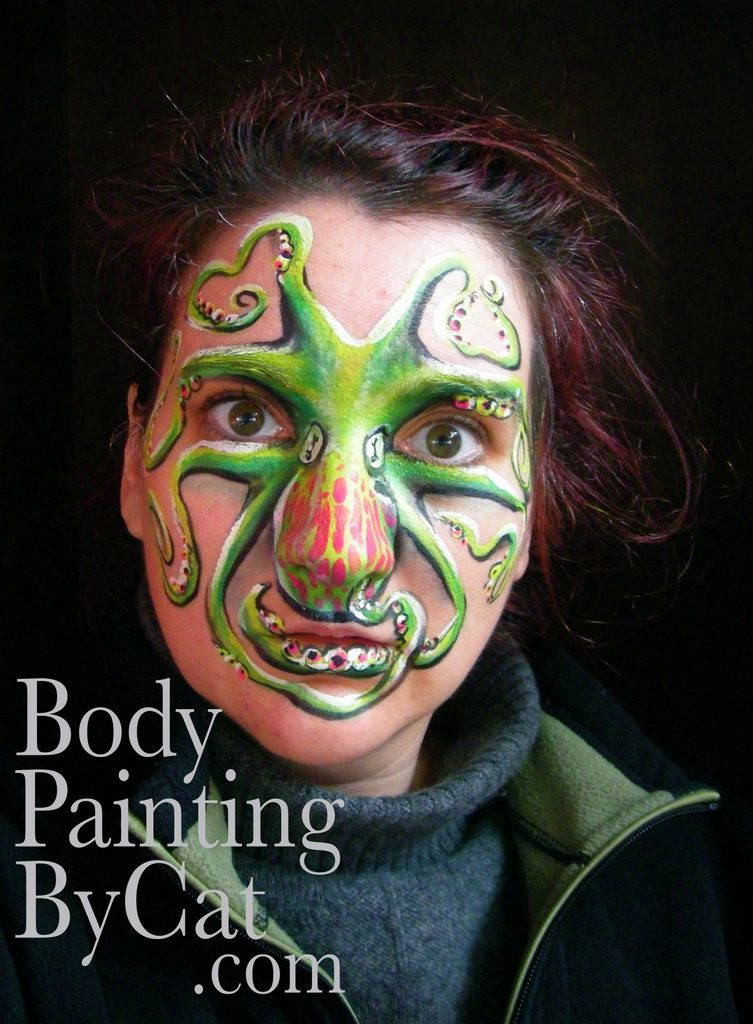 Water Inspired Body Painting By Cat