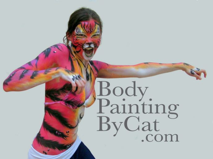 Pink tiger bodypaint strecth bpc