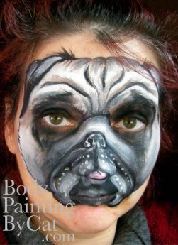 Pug face paint bpc
