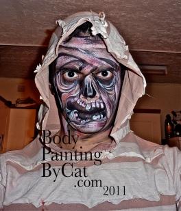 Remi face zombie paint Halloween bpc