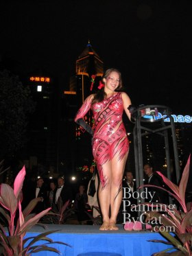 RHKYC Ball Passions bodypaint onstage skyscrapers guests bpc