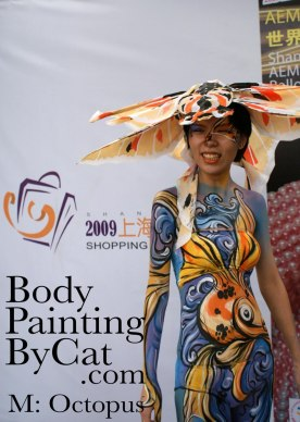 Shanghai BodyPaint Day 1 My East Meets west future fish by poster bpc