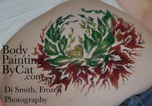 Spring Leafy glitter bump finished bpc
