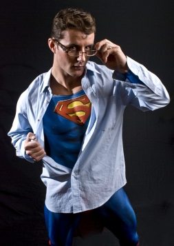 Superman strips glasses