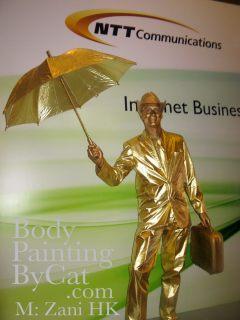 W hotel kowloon gold statue zani brolly logo 2 bpc