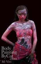 Web witch pink bodypaint by Cat Finlaysonblck-1 bpc