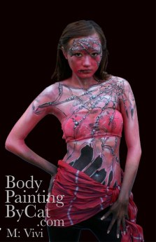 Web witch pink bodypaint by Cat Finlaysonblck-1 bpc