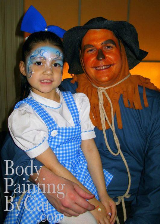 Wiz of Oz party face paint bpc
