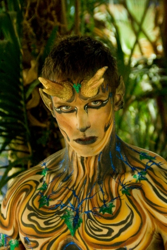 Wood satyr bodypaint IMATS for illusion