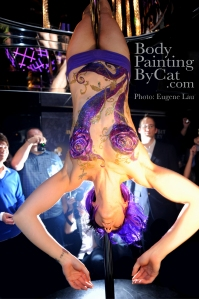 Beijing Club HK Glitter body tattoo; bodypaintingbycat.co.uk; on Symone of poleparadisestudio.com; photo Euegene Lau wm