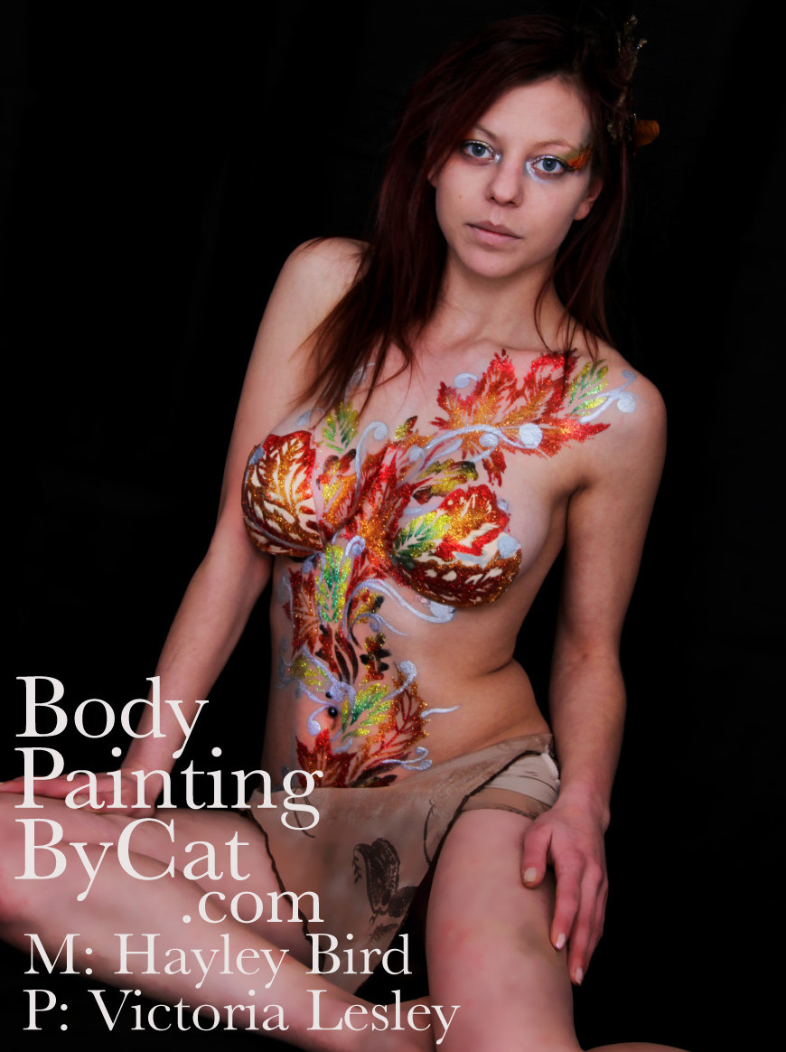 Leaf Pixie Earth Elemental Body Glitter Tattoo Shoot Norwich Body Painting By Cat