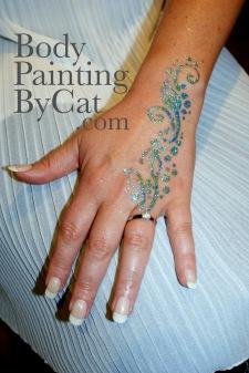 Hen Party glitter tattoo