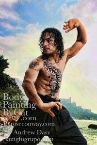 Kungfutiger glitter body tatt pro shot arms bpc