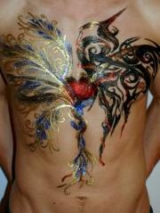 Heaven & Hell Glitter tattoo male