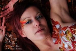 Leafy Hayley glitter tatt leaves face bpc