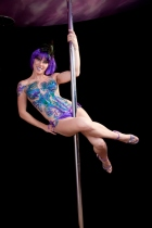 Symone body glitter tatt sat x on pole pic by Wahphotohk
